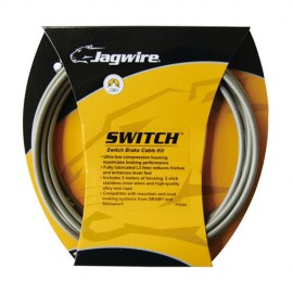 Kit cabos Travão Jagwire Switch prata sterling